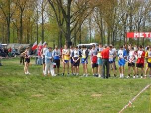 30.04.2008 roku X Mazowieckie Igrzyska Młodzieży Szkolnej sztafetowe biegi przełajowe - Jedlińsk